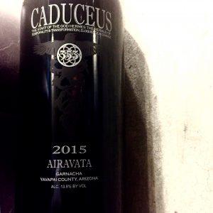 A bottle of wine