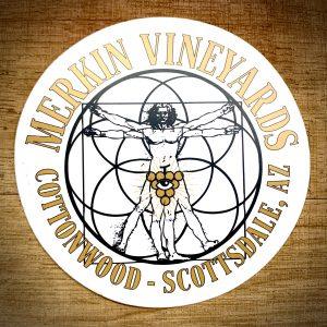 Merkin Vineyards Sticker