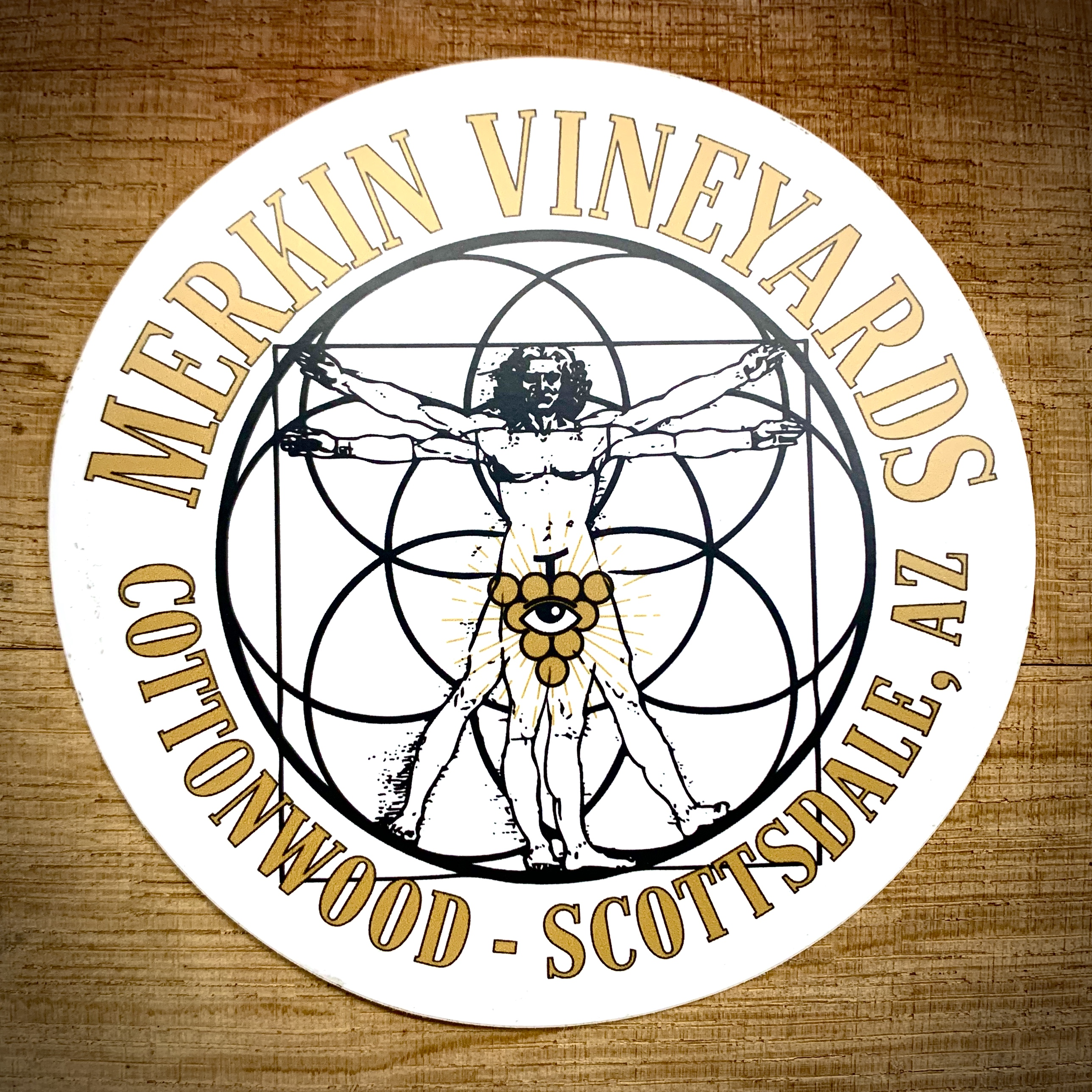 Merkin Vineyards Sticker